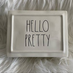 """Rae Dunn """"Hello Pretty"""" Jewelry Box with lid"""